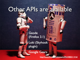 Other APIs are available