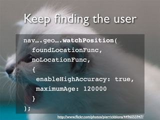 Keep finding the user